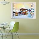 billige Vægklistermærker-Dekorative Mur Klistermærker - 3D mur klistermærker / Holiday Wall Stickers Landskab / Jul Stue / Børneværelse