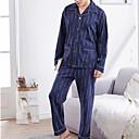 abordables Cargadores para Coche-Hombre Escote Cuadrado Traje Pijamas Geométrico