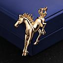 ieftine Set de Bijuterii-Bărbați Clasic Stl Broșe Cai Creative Artistic Simplu Englezesc Broșă Bijuterii Auriu Argintiu Pentru Nuntă Zilnic
