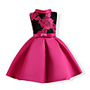 cheap Girls' Dresses-Kids Girls' Sweet Party Floral Bow / Embroidered Sleeveless Dress / Cotton