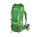 billige Vinstoppere-60+10 L Ryggsekk - Lettvekt, Regn-sikker, Anvendelig Utendørs Vandring, Camping, Løp 100g / m2 Polyester Strik Stretch Grønn