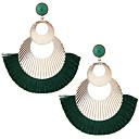 povoljno Modne naušnice-Žene Viseće naušnice Rese dame Europska Moda Ogroman Naušnice Jewelry Zelen / Plava / Lila-roza Za Party 1 par