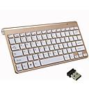 hesapli Klavyeler-LITBest Mini 2.4GHz kablosuz Ofis klavye MINI Sessiz 78 pcs Anahtarlar