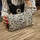 olcso Retikülök és estélyi táskák-Női Táskák PU Patent Flitter Arany / Fekete / Forgásc