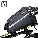 رخيصةأون قطع رأس-RHINOWALK حقيبة دراجة الإطار / أغطية الحقيبة 6 بوصة شرائط عاكسة ركوب الدراجة إلى iPhone 8/7/6S/6 أسود
