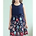 זול שמלות לבנות-שמלה ללא שרוולים אחיד / פרחוני בנות ילדים
