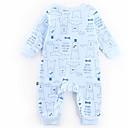 ieftine Set Îmbrăcăminte Bebeluși-Bebelus Fete De Bază Zilnic Mată / Imprimeu Manșon Lung Poliester O - piesă Gri 90 / Copil