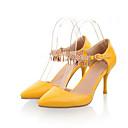 abordables Pulseras-Mujer Zapatos Confort PU Primavera Tacones Tacón Stiletto Amarillo / Rosa / Almendra