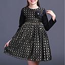 tanie Sukienki dla dziewczynek-Dzieci Dla dziewczynek Podstawowy Kratka Długi rękaw Sukienka