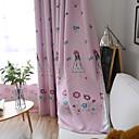 abordables Cortinas-A Medida Oscuridad Blackout cortinas cortinas Dos Paneles Talla Personalizada Azul / Sala de niños