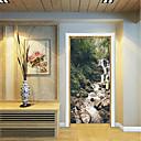 tanie Naklejki ścienne-Naklejki na drzwi - Naklejki ścienne 3D Abstrakcja / Krajobraz Salon / Sypialnia