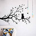 رخيصةأون ملصقات الحائط-لواصق حائط مزخرفة - ملصقات الحائط الحيوان حيوانات / الأزهار / النباتية غرفة الجلوس / غرفة النوم / دورة المياه