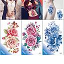ieftine Tatuaje Temporare-3 pcs Acțibilde de Tatuaj Tatuaje temporare Serie de Flori / Romantic Series Ecologic / Model nou Arta corpului Corp / braț / Piept / Decorative în stil tatuaj temporar / Tatuaj autocolant
