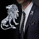 cheap Brooches-Men's Vintage Style / Stylish Brooches - Lion Vintage, Fashion, British Brooch Jewelry Gold / Silver For Daily / Holiday