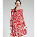 cheap Women's Sandals-Women's Daily Slim T Shirt Dress Fall Red XXXL 4XL XXXXXL
