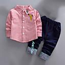 זול לבנים סטים של ביגוד לתינוקות-סט של בגדים שרוול ארוך אחיד בסיסי בנים תִינוֹק / פעוטות