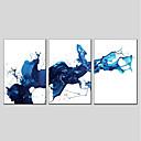 billige Trykk-Trykk Stretched Canvas - Abstrakt Moderne Tre Paneler