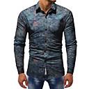billige Vegglamper-Skjorte Herre - Fargeblokk, Trykt mønster Grunnleggende / Gatemote
