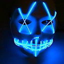 cheap Halloween Party Supplies-Holiday Decorations Halloween Decorations Halloween Masks Decorative / Cool Blue 1pc