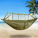cheap Tents, Canopies & Shelters-2 persons Camping Hammock with Mosquito Net Rope Bags Tie Wrap Padlock Moistureproof/Moisture Permeability Well-ventilated Ultra Light