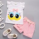 ieftine Set Îmbrăcăminte Bebeluși-Bebelus Fete De Bază Imprimeu / Scrisă Funde Fără manșon Bumbac Set Îmbrăcăminte / Copil