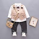 ieftine Set Îmbrăcăminte Băieți Bebeluși-Bebelus Băieți Vintage Zilnic Mată Manșon Lung Regular Bumbac / In / Acrilic Set Îmbrăcăminte Gri / Copil