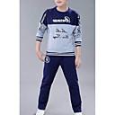 cheap Boys' Clothing Sets-Kids Boys' Basic Solid Colored Long Sleeve Regular Regular Cotton / Polyester Clothing Set White