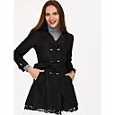 preiswerte Damen Stiefel-Damen - Solide Trench Coat Baumwolle Spitze