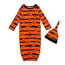 זול הלבשה תחתונה וגרביים לתינוקות-לבוש שינה כותנה ארוך ארוך חצי שרוול פסים / דפוס פעיל / בסיסי בנות תִינוֹק 2pcs