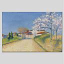 ieftine Picturi în Ulei-Hang-pictate pictură în ulei Pictat manual - Peisaj Modern Includeți cadru interior / Stretched Canvas
