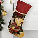 tanie Naklejki ścienne-Pończochy / Ozdoby świąteczne Inspirujące Tkanina bawełniana Kwadrat Nowość Świąteczna dekoracja