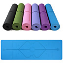 cheap Phone Mounts & Holders-Yoga Mat 183*61*0.6 cm Eco-friendly, Multi Function, Anti Slip TPE Position Line For Yoga / Pilates / Exercise & Fitness Pink, Violet, Dark Purple