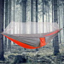 cheap Smartwatches-Camping Hammock with Mosquito Net Outdoor Portable, Lightweight, Anti-Mosquito Nylon for Camping / Camping / Hiking / Caving / Outdoor - 1 person Orange / Yellow