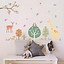 preiswerte Wand-Sticker-Dekorative Wand Sticker - Tier Wandaufkleber Blumenmuster / Botanisch Wohnzimmer / Schlafzimmer / Badezimmer