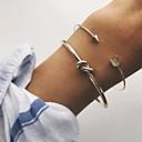 billige Mote Halskjede-Dame Elegant Mansjettarmbånd - Arrow Enkel, Klassisk, Grunnleggende Armbånd Gull Til Daglig Stevnemøte / 2pcs