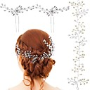 cheap Wedding Decorations-Crystal / Imitation Pearl Head Chain with Lace-up 3 Pieces Wedding / Special Occasion Headpiece