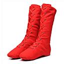 olcso Jazz cipők-Női Jazz cipők Szatén Lapostalpú Lapos Dance Shoes Fehér / Fekete / Piros