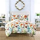billige Blomster dynebetræk-Sengesæt Moderne Polyester Trykt 3 DeleBedding Sets