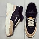 ieftine Adidași de Damă-Pentru femei Pantofi Nappa Leather Primăvară Confortabili / Balerină Adidași Toc Drept Vârf Închis Negru / Galben