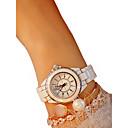 baratos Clutches & Bolsas de Noite-Mulheres Relógio de Pulso Quartzo Preta / Branco Cronógrafo Relógio Casual Adorável Analógico senhoras Rígida Elegante - Branco Preto