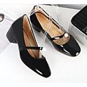 povoljno Ženske ravne cipele-Žene Pumps cipele Lakirana koža Proljeće Cipele na petu Kockasta potpetica Crn / žuta / Vojska Green