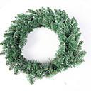 baratos Plantas Artificiais-Guirlandas / Enfeites de Natal Férias Plástico Redonda Novidades Decoração de Natal
