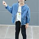 ieftine Seturi Îmbrăcăminte Fete-Copii Fete De Bază Mată / Imprimeu Manșon Lung Bumbac / Poliester Blazer Albastru piscină