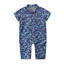ieftine Set Îmbrăcăminte Băieți Bebeluși-Bebelus Băieți Vintage / Activ Concediu Imprimeu Imprimeu Mânecă scurtă Salopetă / Copil
