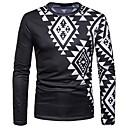 זול שרשראות לגברים-גיאומטרי וינטאג' / בוהו טישרט - בגדי ריקוד גברים דפוס שחור ולבן
