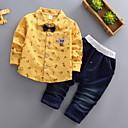 billige Jakker og frakker til jenter-Baby Gutt Grunnleggende Daglig Ensfarget Langermet Normal Polyester Tøysett Blå
