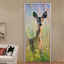 رخيصةأون ملصقات الحائط-ملصقات الباب - لواصق مناظر طبيعية / حيوانات غرفة الجلوس / غرفة النوم