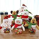 abordables Decoraciones Navideñas-3 unids dulces de navidad puede azucarero de navidad cajas de dinero caja de la decoración de navidad caja de almacenamiento de azúcar caja de dulces botella puede