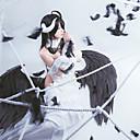 """billige Anime Cosplay Parykker-Inspirert av Overlord albedo Anime  """"Cosplay-kostymer"""" Cosplay Klær Animé Skjørt / 1 Halskjede / Topp Til Dame Halloween-kostymer"""