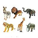 זול מדבקות קיר-דמויות של בעלי חיים פיל אריה זברה חיות גוּמִי לילדים כל בנים בנות צעצועים מתנות 6 pcs